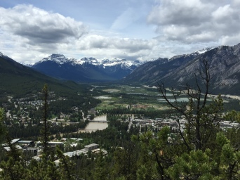 View of the town of Banff from Tunnel Mountain